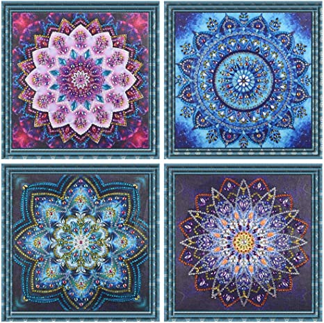NEW 5D DIY Special Shaped Diamond Painting Mandala Cross Stitch Craft Kit Decor