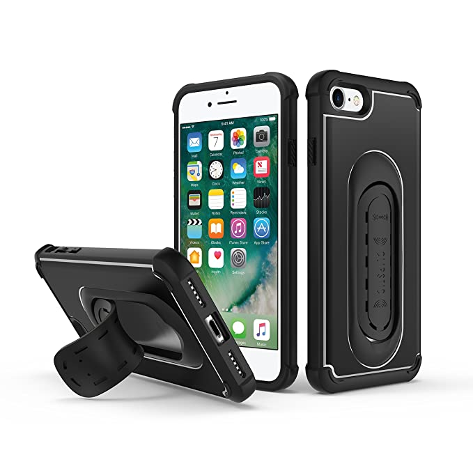 best service aa68d 05d6f 5-in-1 Scooch Clipstic Pro Case for iPhone 7 (Black)