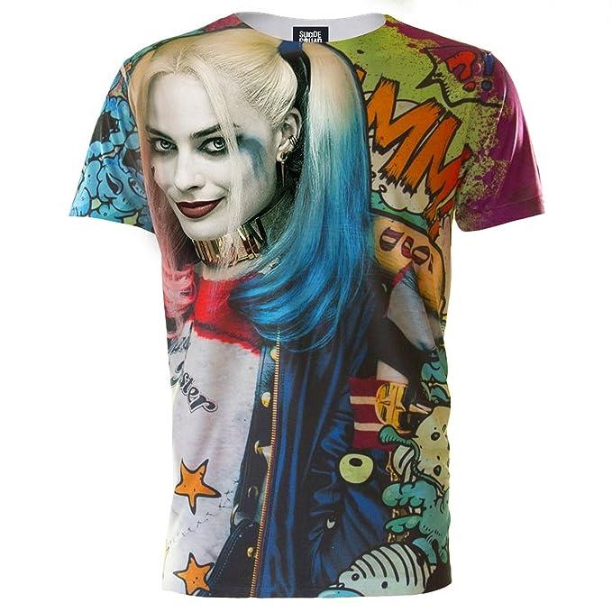 42801c0fc524 Amazon.com: Suicide Squad Mens Harley Quinn Graffiti T-Shirt: Clothing