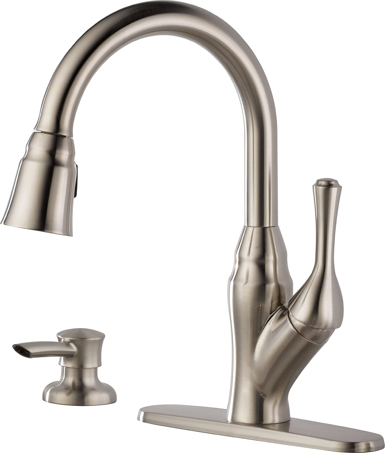 Delta 16971-SSSD-DST Velino Pull-Down Kitchen Faucet with Integrated Soap  Dispenser, Stainless