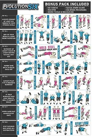 Evolución seis | mancuerna entrenamiento de fitness y ejercicio de peso corporal Póster | laminado –