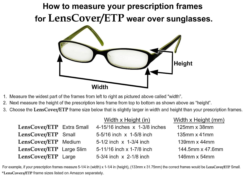 Amazon.com: LensCovers Sunglasses Wear Over Prescription Glasses ...
