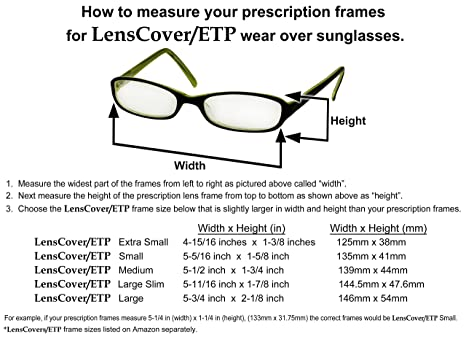 Amazon.com: LensCovers Sunglasses Wear Over Prescription Glasses ...