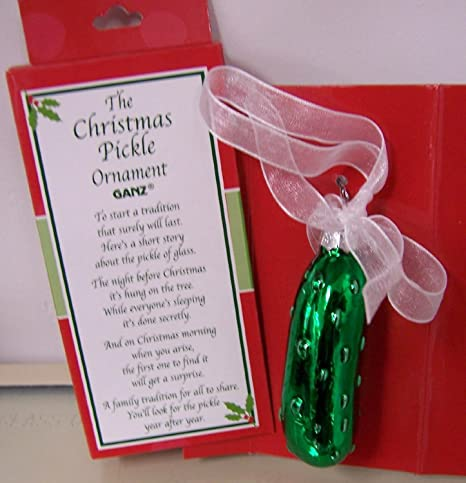 ganz the christmas pickle ornament ex19571 - Christmas Pickle Story