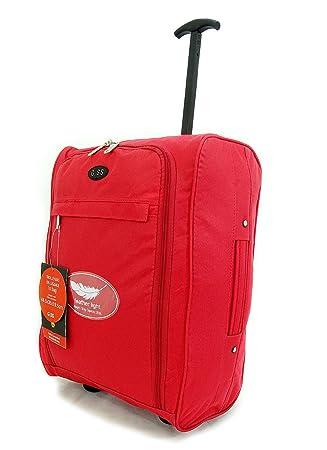 Súper Cabina Ligera Aprobado Viaje Sobre ruedas traseras del bolso del equipaje maleta trolley de cabina Aprobado Caso 50x40x20 Easyjet Ryanair: Amazon.es: ...