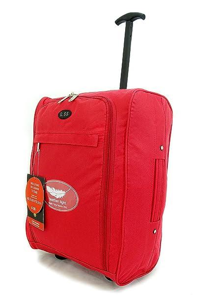 Súper Cabina Ligera Aprobado Viaje Sobre ruedas traseras del bolso del equipaje maleta trolley de cabina Aprobado Caso 50x40x20 Easyjet Ryanair