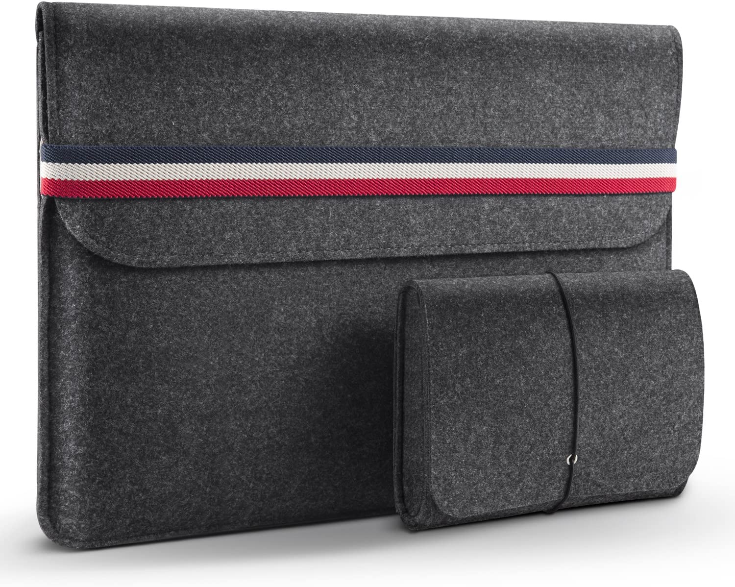 HOMIEE 15.6 Inch Laptop Sleeve Protective Case for 15.6 Inch HP Pavilion/Dell/Asus/Thinkpad and 15.6 Inch Ultra Slim Laptops Notebooks, Shockproof Laptop Bag, LS1503B, Dark Gray