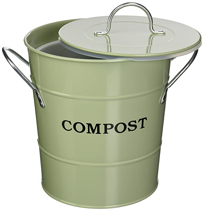 Exaco CPBG 01 1-Gallon 2-in-1 interior Compost cubo, color ...