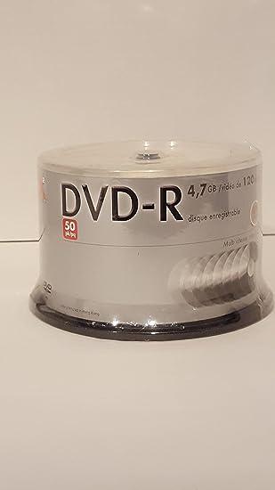 Nexxtech DVD-R 50 Pack 4.7GB 8X 120 Minute Unidad de Disco óptico: Amazon.es: Electrónica