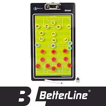 BETTERLINE Premium Tablero de Entrenamiento por Mejor Línea - magnético portapapeles (Doble Cara, con rotulador Elegir Baloncesto, Fútbol, Voleibol o ...