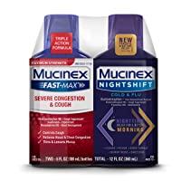 Mucinex Maximum Strength MUCINEX Fast-Max Severe Congestion & Cough & MUCINEX Nightshift...