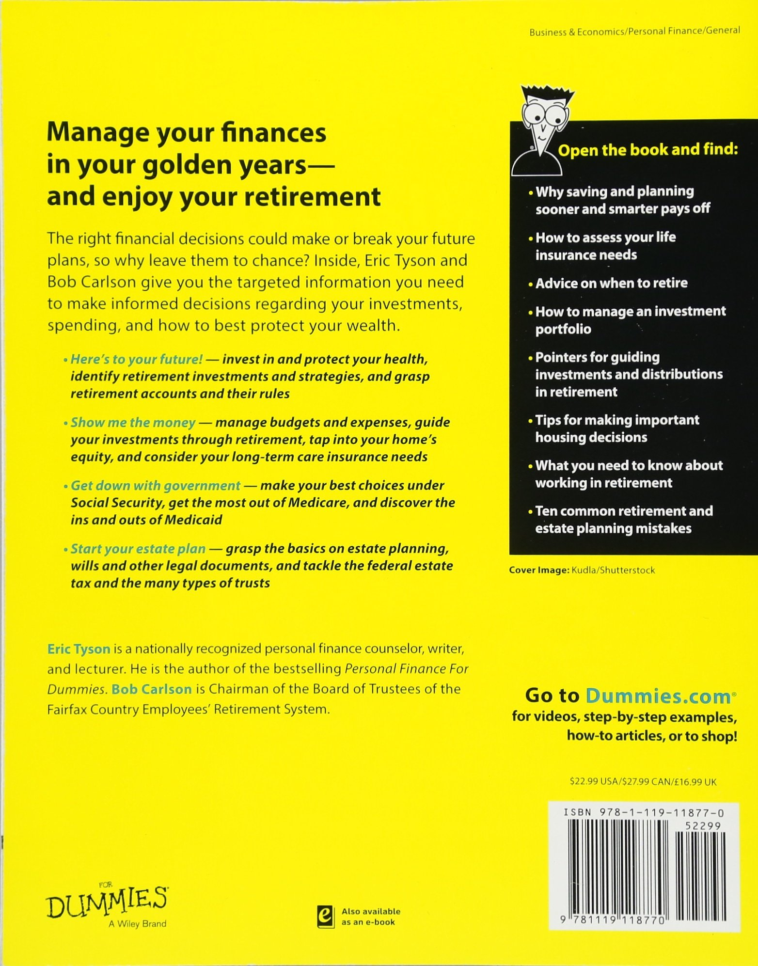 Personal Finance After 50 For Dummies: Eric Tyson, Bob Carlson:  9781119118770: Amazon.com: Books