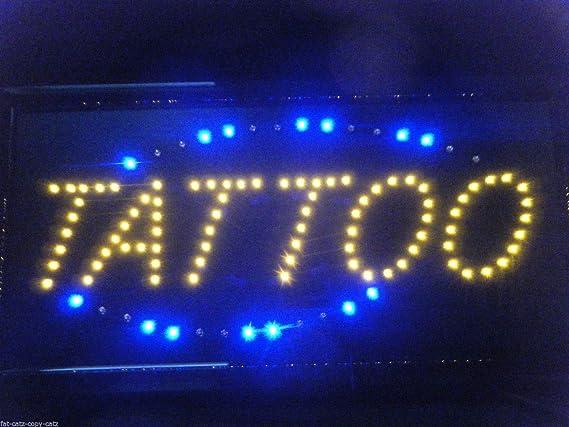 Complete Retail Solution Ltd Tattoo Shop Blinkendes Led Hängeschild Zum Aufhängen Küche Haushalt