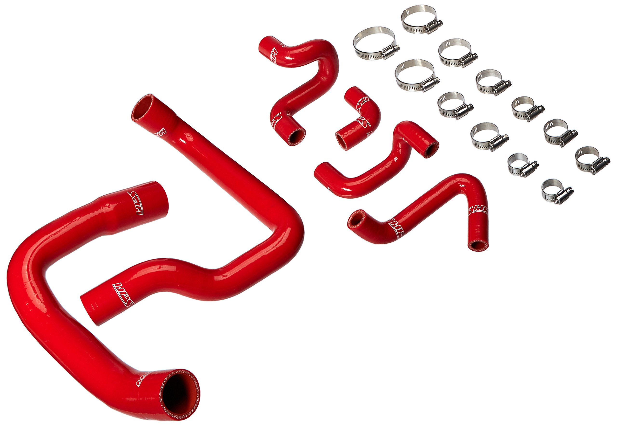 HPS (57-1010-RED) Silicone Radiator Hose Kit for Ford Mustang GT/Cobra