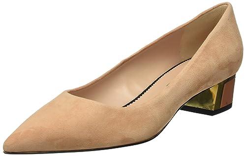 Hannibal Laguna EDA, Zapatos de Tacón Mujer, Beige (Ante Teja), 39 EU Hannibal Laguna