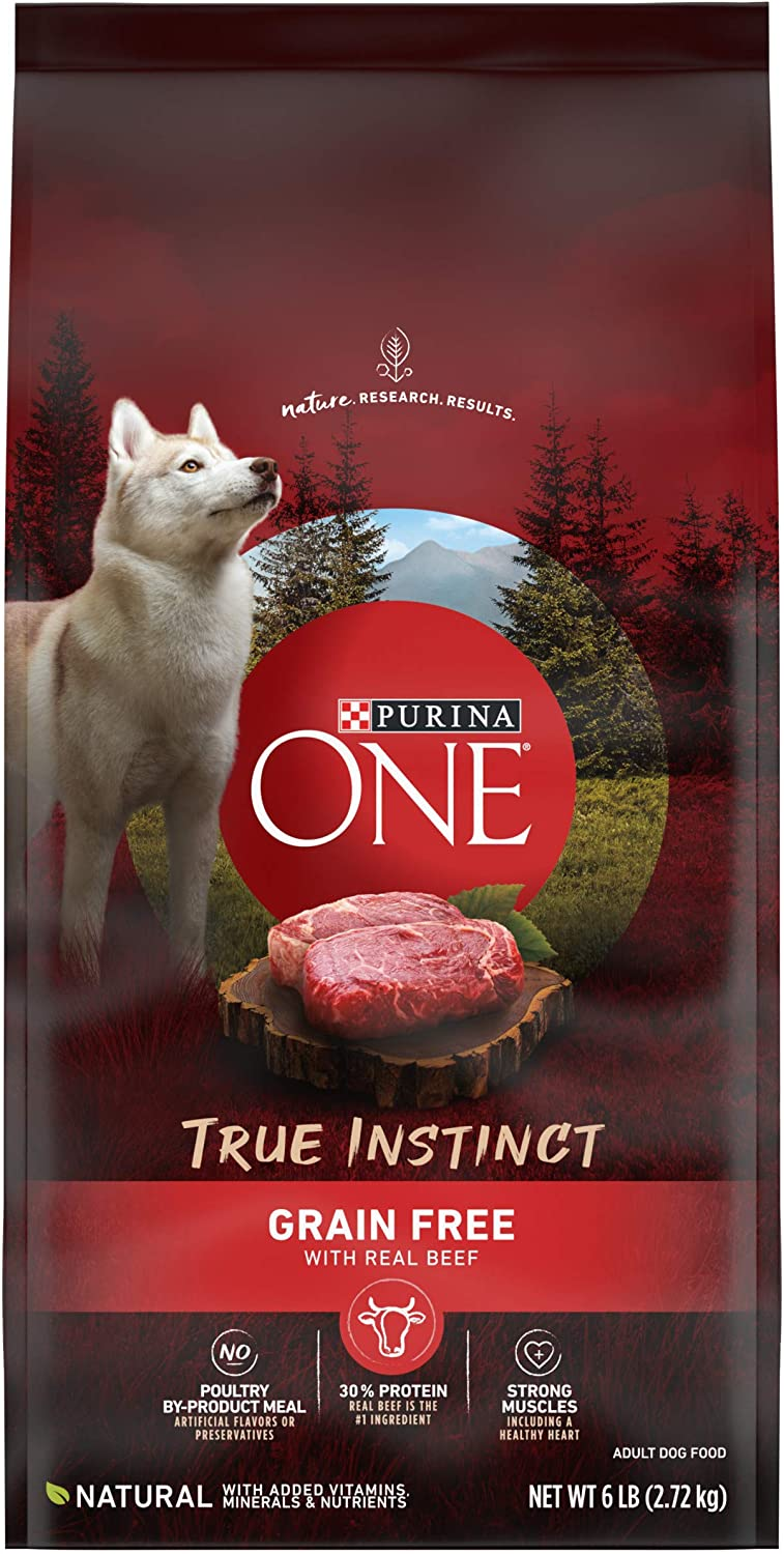 Purina ONE SmartBlend True Instinct High Protein, Natural, Grain Free Adult Dry Dog Food