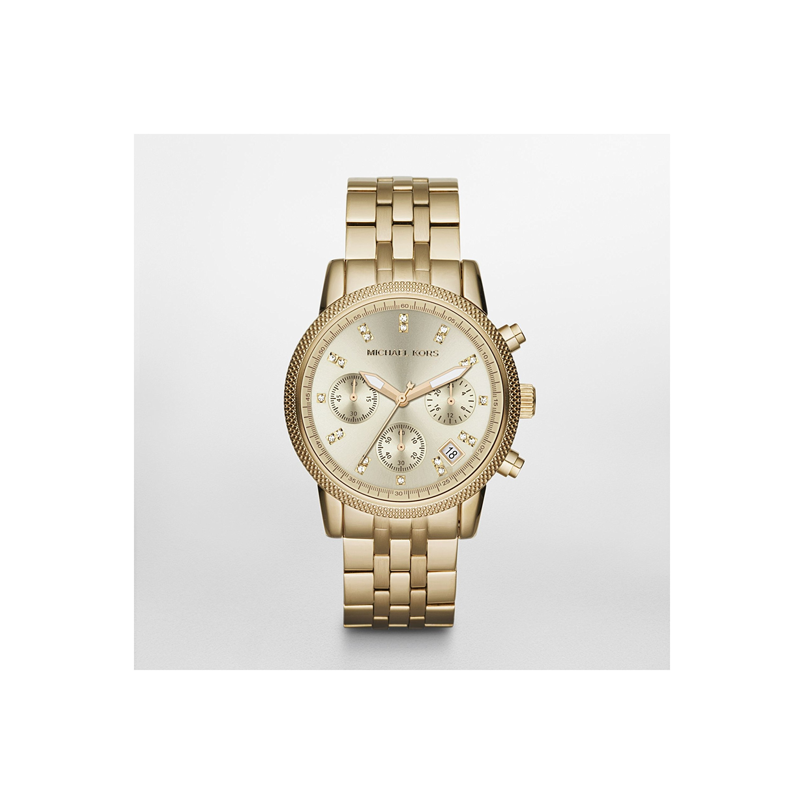 Michael Kors Women's MK5676 Ritz Gold-Tone Stainless Steel Chronograph Watch by Michael Kors