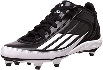 detailed look 608bd 72493 adidas Men s Lightning Mid D Football Cleat,Black White Metallic Silver,10