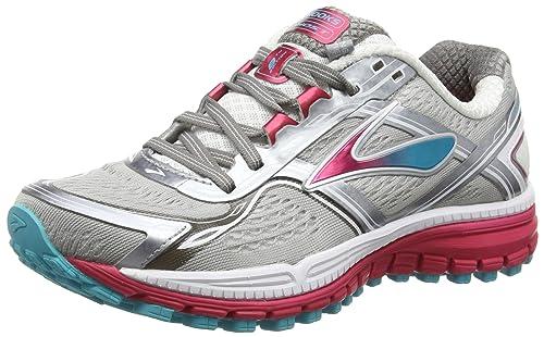 06056e3d8c6 Brooks Women s Ghost 8 Metallic Charcoal Bright Rose Bluebird Sneaker 6 D -  Wide  Amazon.in  Shoes   Handbags