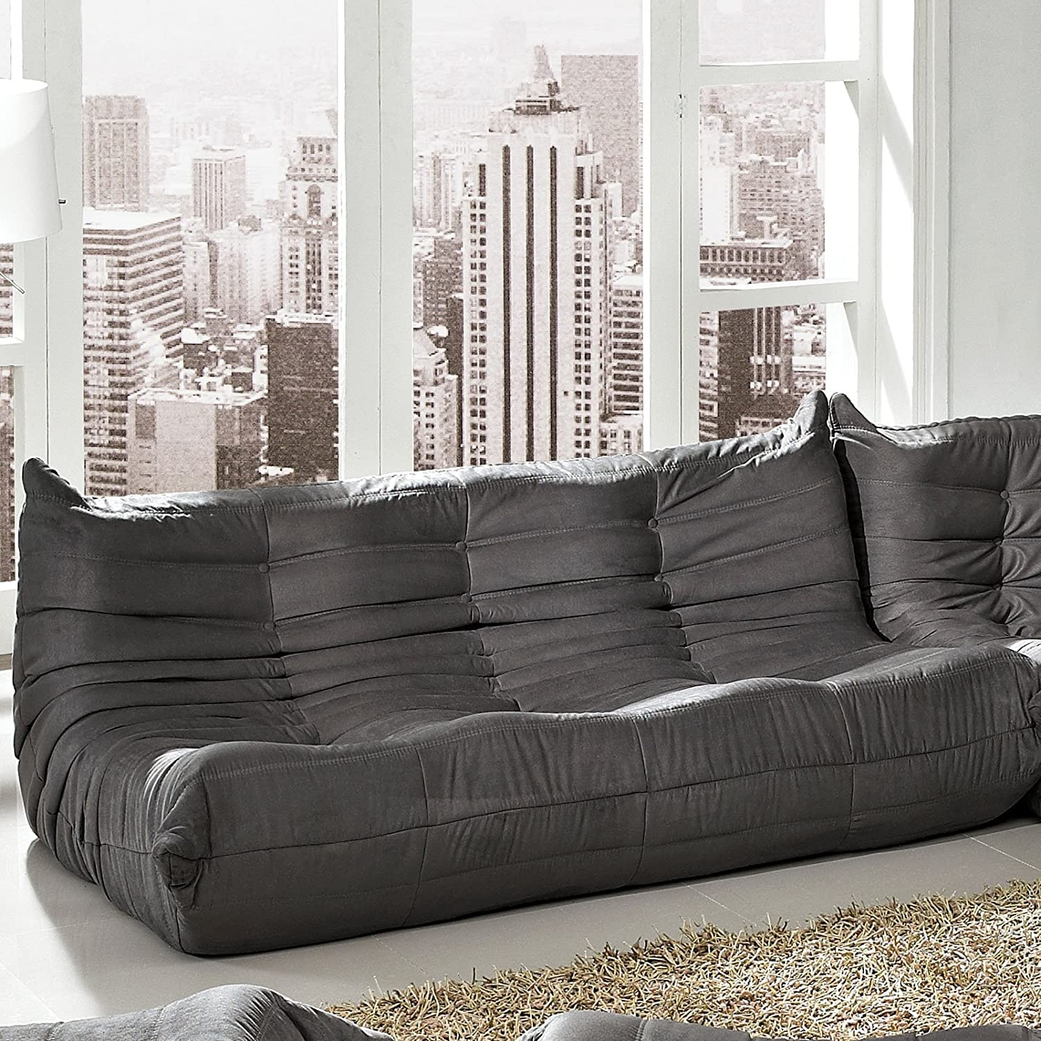 LexMod Waverunner Modular Sectional Sofa in Light Gray Amazon