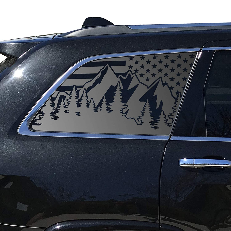 Mountain Scene USA Flag Decal Fits 2011-2020 Jeep Grand Cherokee wk2  WK9