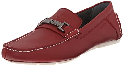775a2c74757 Image Unavailable. Image not available for. Colour  Calvin Klein Men s  Magnus Weave Emboss Slip-on Loafer Red ...