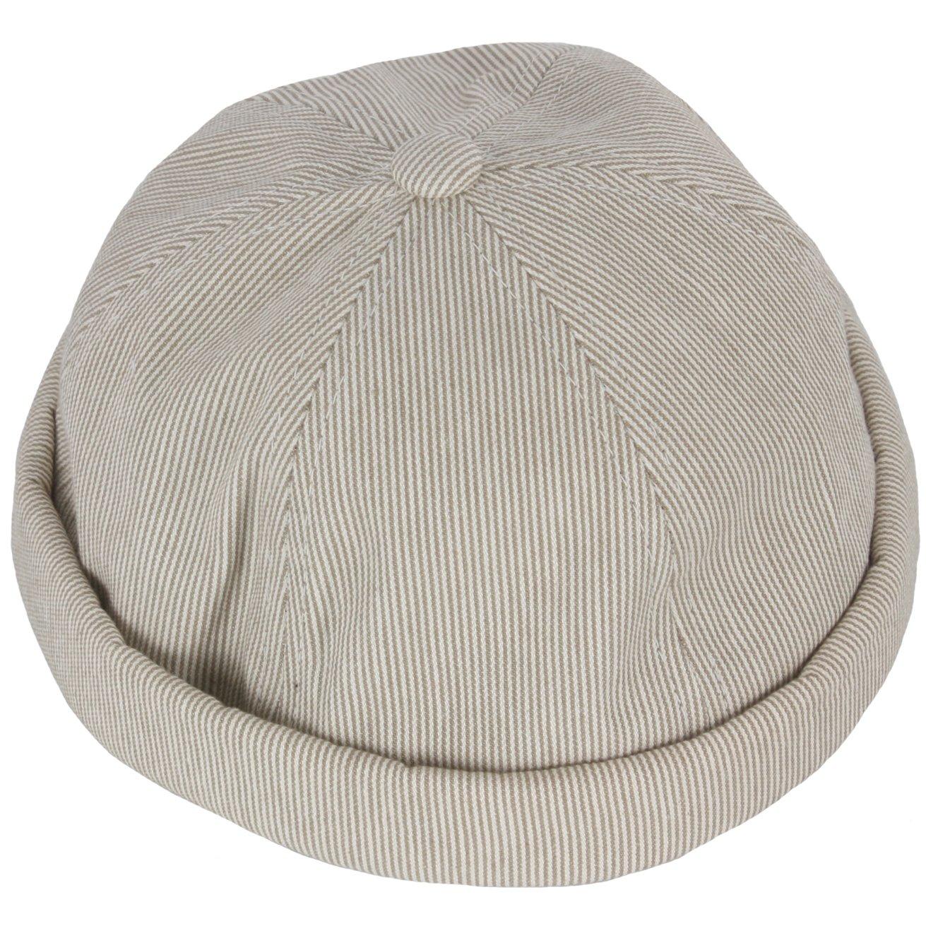 RaOn B177 Mens Womens Stripe No Bill Herringbone Style Ball Cap Baseball Hat Truckers