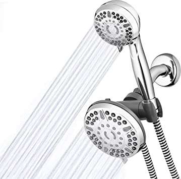 Waterpik High Pressure Shower Head Handheld Spray 2 In 1 Dual System With 5 Foot Hose Powerpulse Therapeutic Massage Chrome 2 5 Gpm Xet 633 643