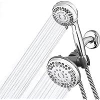Waterpik High Pressure Shower Head Handheld Spray, 2-in-1 Dual System with 5-Foot Hose PowerPulse Massage, Chrome, 2.5 GPM XET-633-643