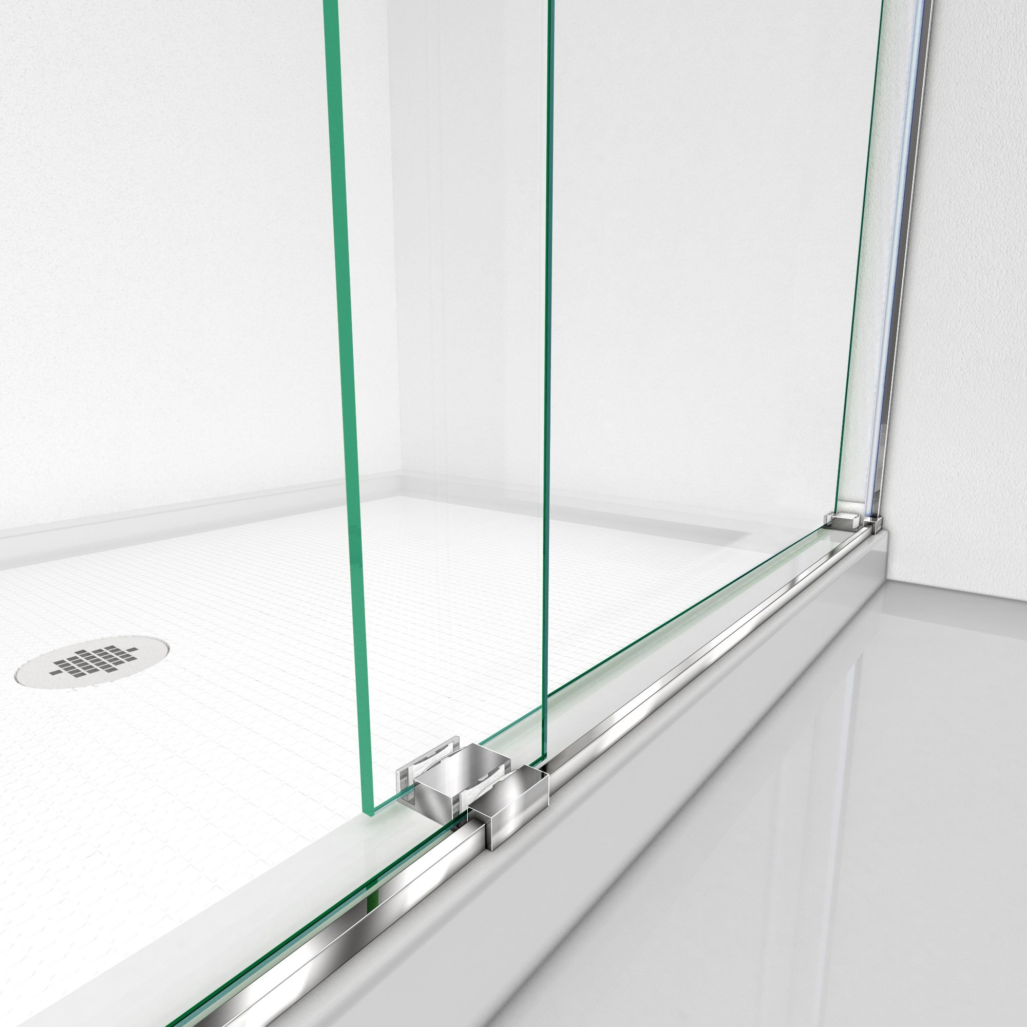 DreamLine SHDR-6360760-04  Essence 56 to 60 in. Frameless Bypass Shower Door in Brushed Nickel Finish by DreamLine (Image #5)