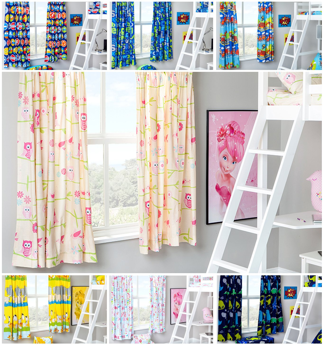 Hello There Design Children's Bedroom Curtains 66