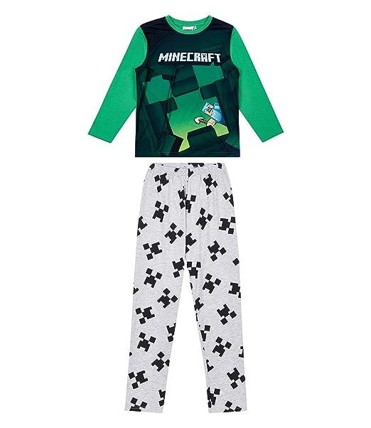 couleurs et frappant les dernières nouveautés choisir officiel Minecraft Pyjama Green: Amazon.co.uk: Clothing
