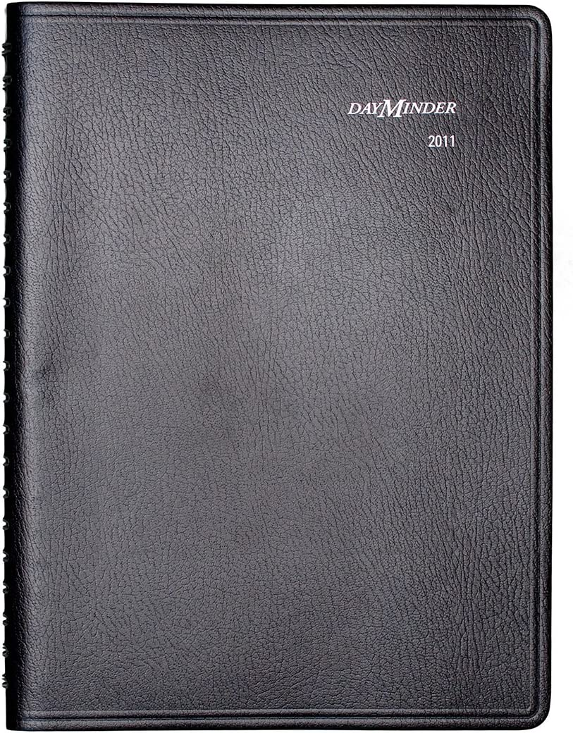 DayMinder G56000 Four-Person Group Daily Appointment Book, 7 7/8 x 11, Black, 2016