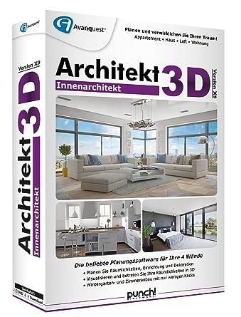 Innen Architekt architekt 3d x9 innenarchitekt amazon de software