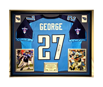 half off df424 7033a Premium Framed Eddie George Autographed/Signed Tennessee ...