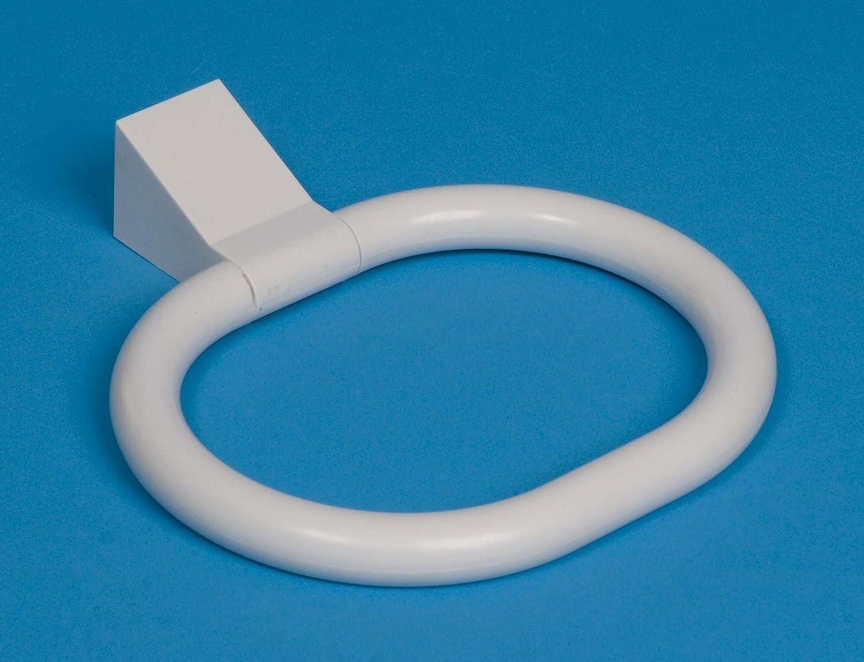 White plastic Towel Ring / Holder Brand New PIMS43-01