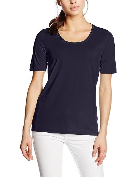s.Oliver Damen T-Shirt 04.899.32.2796, Gr. 34, Blau