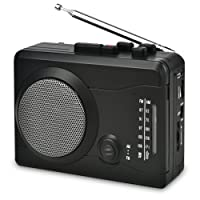DIGITNOW Cassette Player,Personal Walkman Tape and Voice Recorder for Convert Cassette Tape To MP3 Via USB& digital Audio Music to Tapes with Wireless AM/FM Radio,MIC in and Earphone