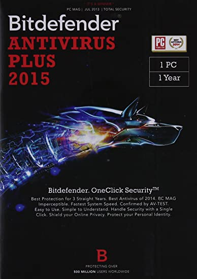 BitDefender Anti-Virus Plus 2015 - 1 PC, 1 Year