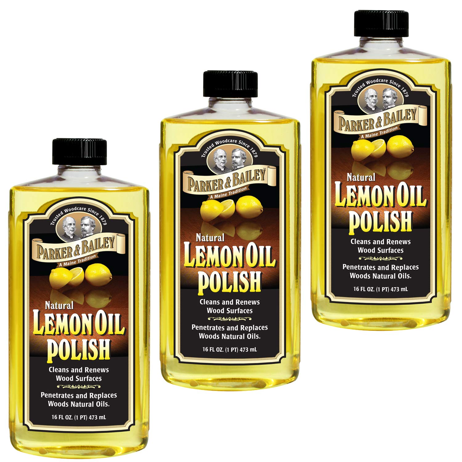 Parker & Bailey Natural Lemon Oil Polish 16oz - Pack of 3