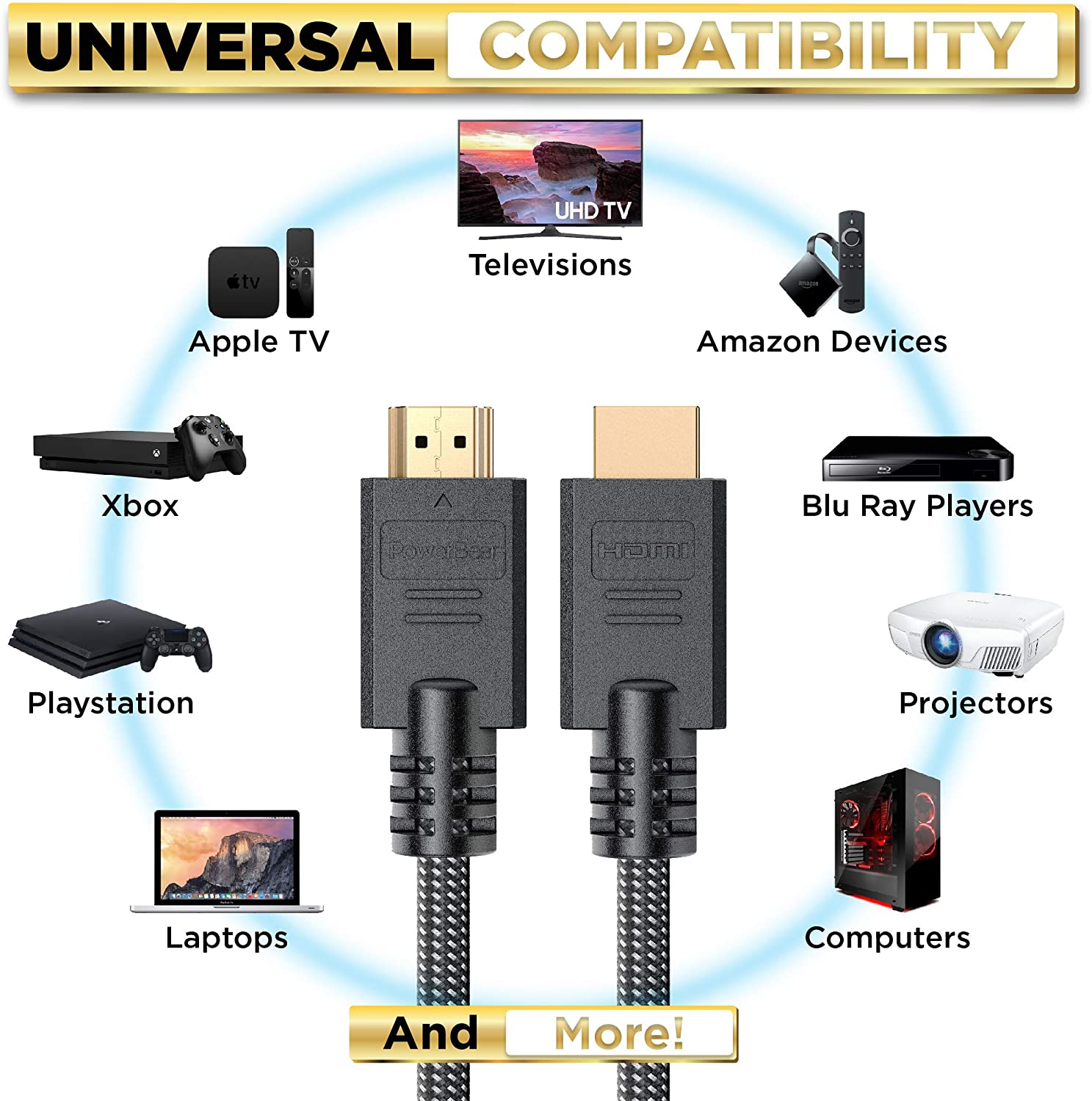 PowerBear 4K HDMI Cable 6 ft