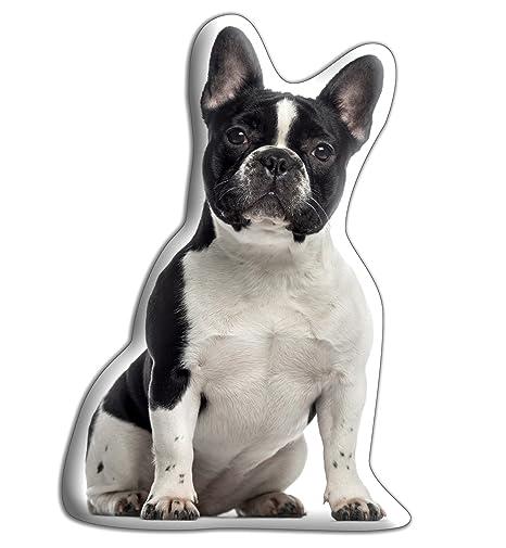 MIDI - Cojín para perro, diseño de bulldog francés, ideal para acurrucarse (Tamaño