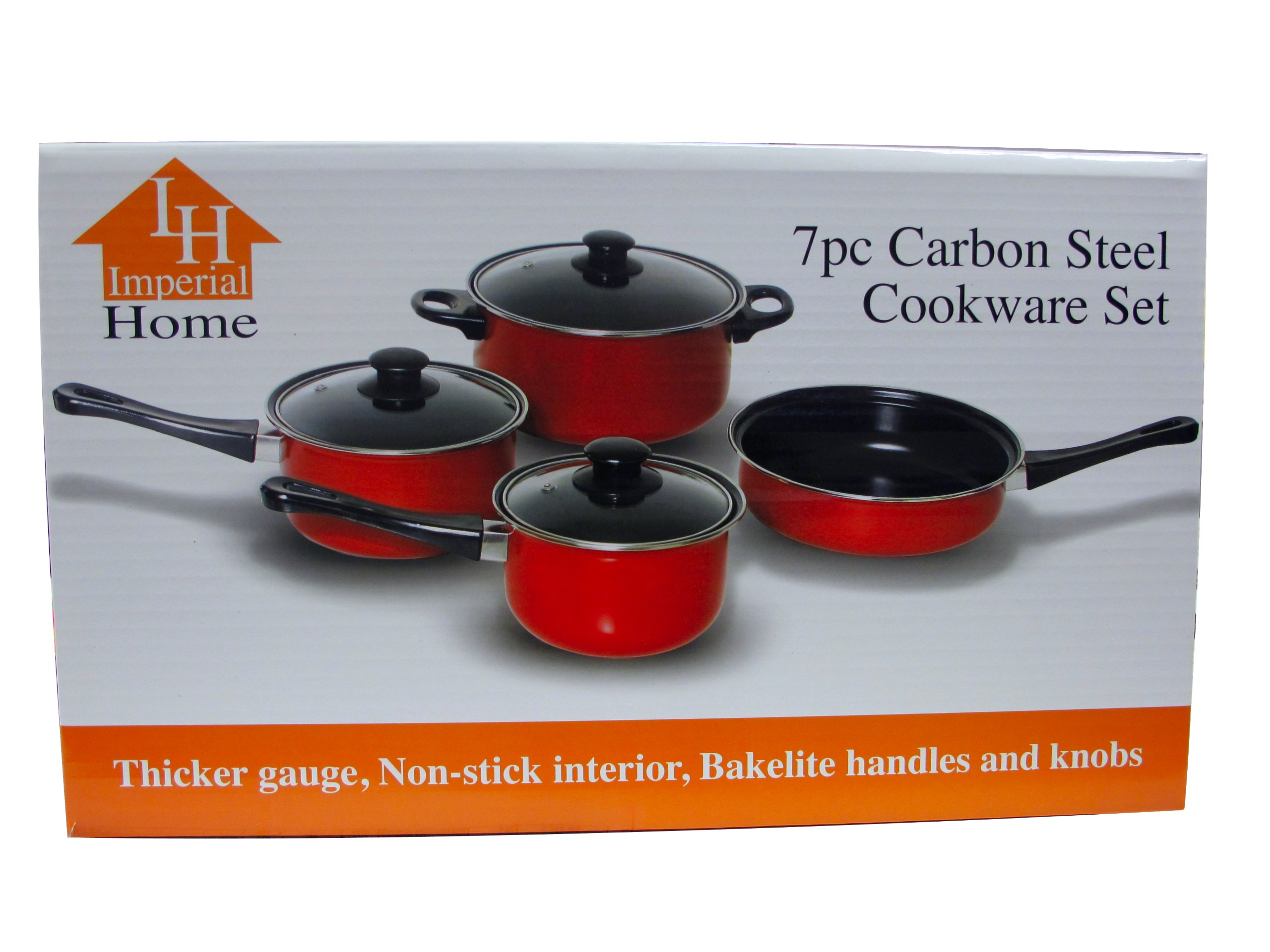 Imperial Home MW1204 Carbon Steel 7 Pieces Nonstick Cookware Set