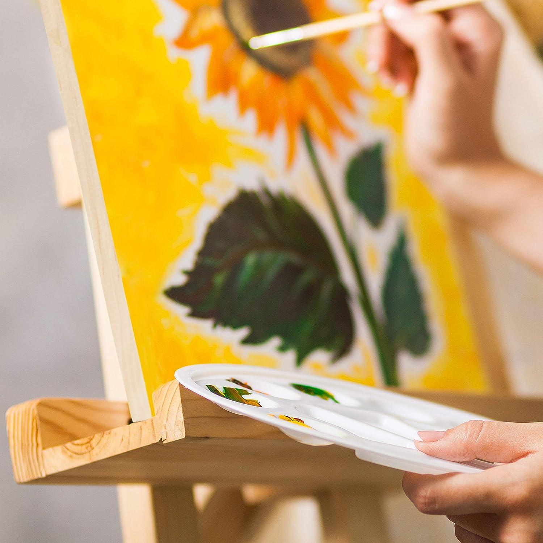 BELLE VOUS Tela in Legno (Set da 4) 30x30cm (12x12 inch) Pannelli di Legno per Pittura all'Interno o Esterno, Disegno, Arte Encaustica ed