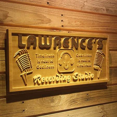 wpa0118 nombre personalizado grabado de madera de estudio de ...