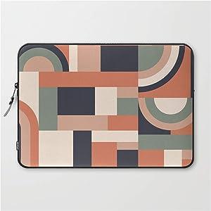 "Laptop Sleeve - Laptop Sleeve - 15"" - Earth Tones Blocks #society6#Pattern by Designdn"