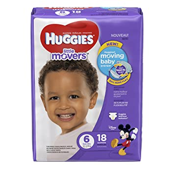 Huggies Little Movers Diapers - Size 6-18 ct