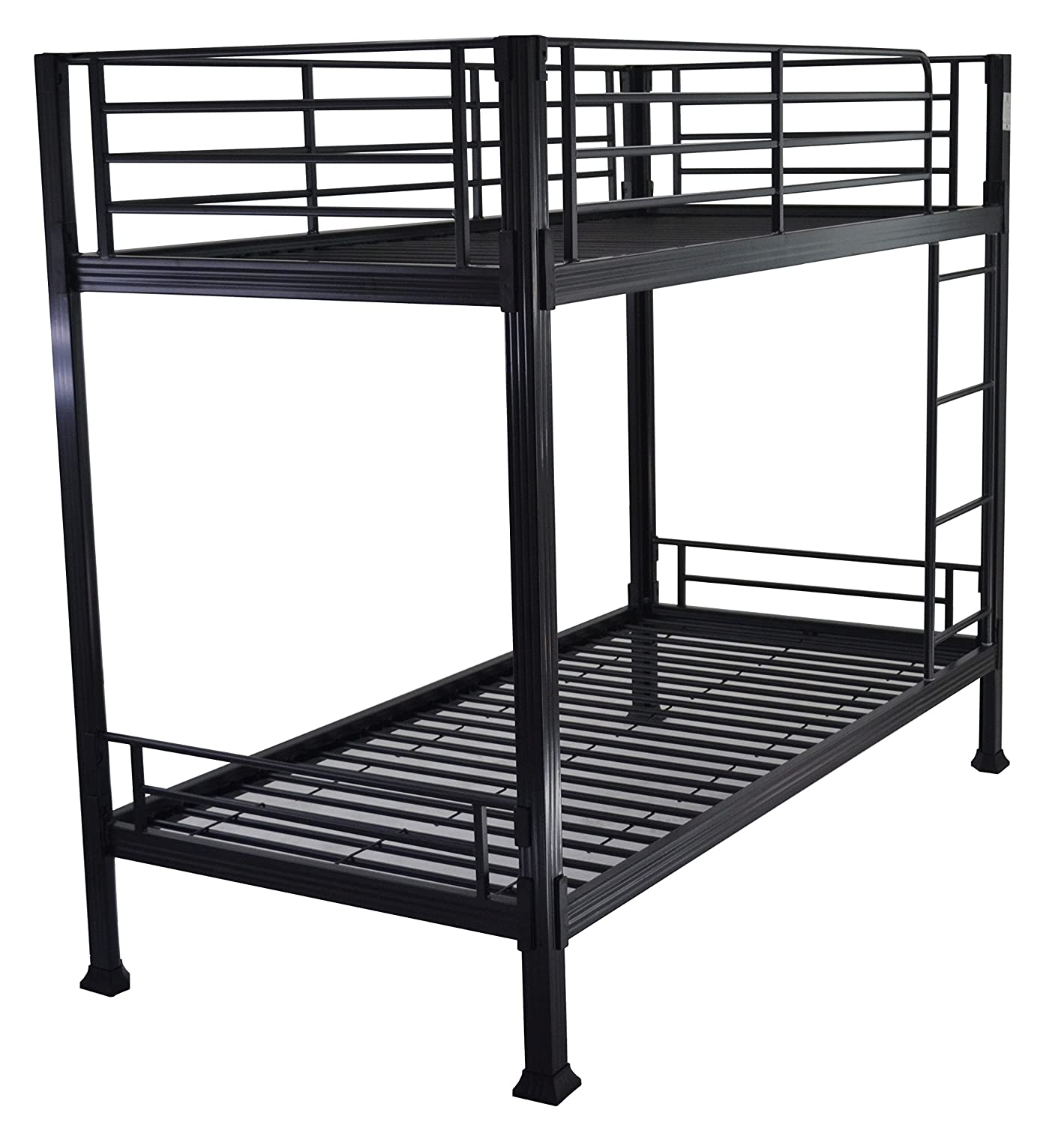 uk availability 9da1c 30148 Strictly Beds Black Bunk Bed - 3ft single metal bunkbed - Can be used by  adults - VERY STRONG