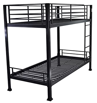 Strictly Beds Black Bunk Bed 3ft Single Metal Bunkbed Can Be