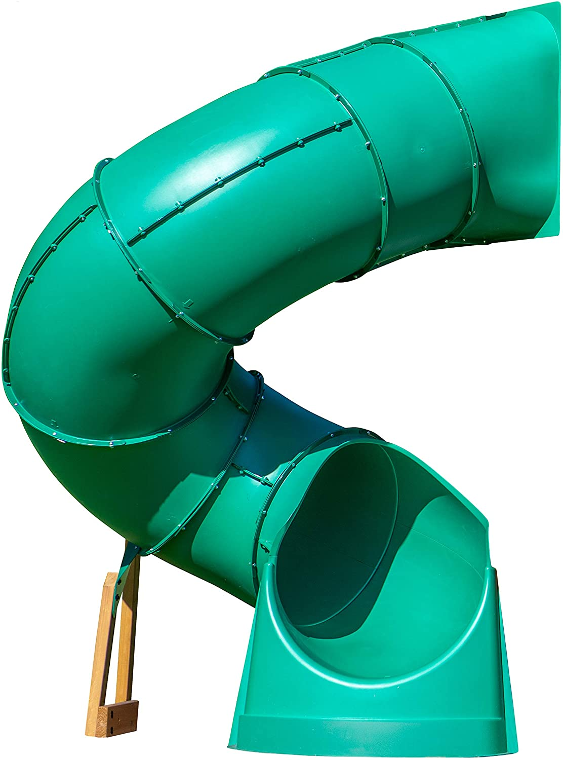 Backyard Discovery Tall Spiral Tube Slide - Left Exit, Green - Mounts to 5 Ft. Deck Height